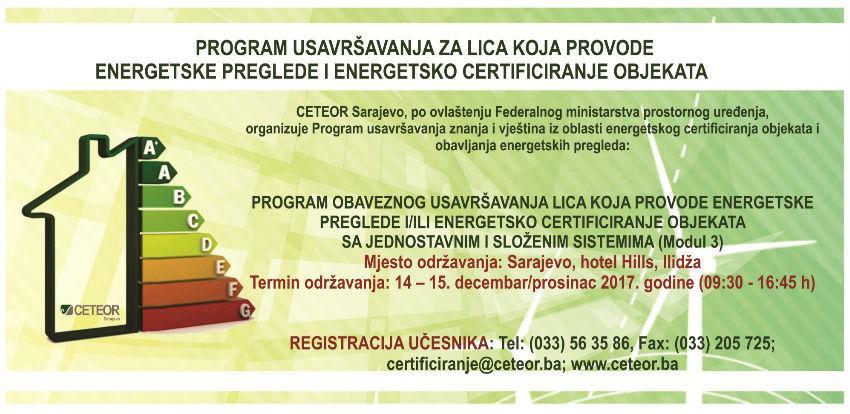 CETEOR: Poziv za učešće u programu usavršavanja