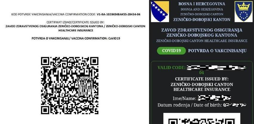 Vakcinisani građani ZDK mogu u domovima zdravlja preuzimati potvrde sa QR kodom