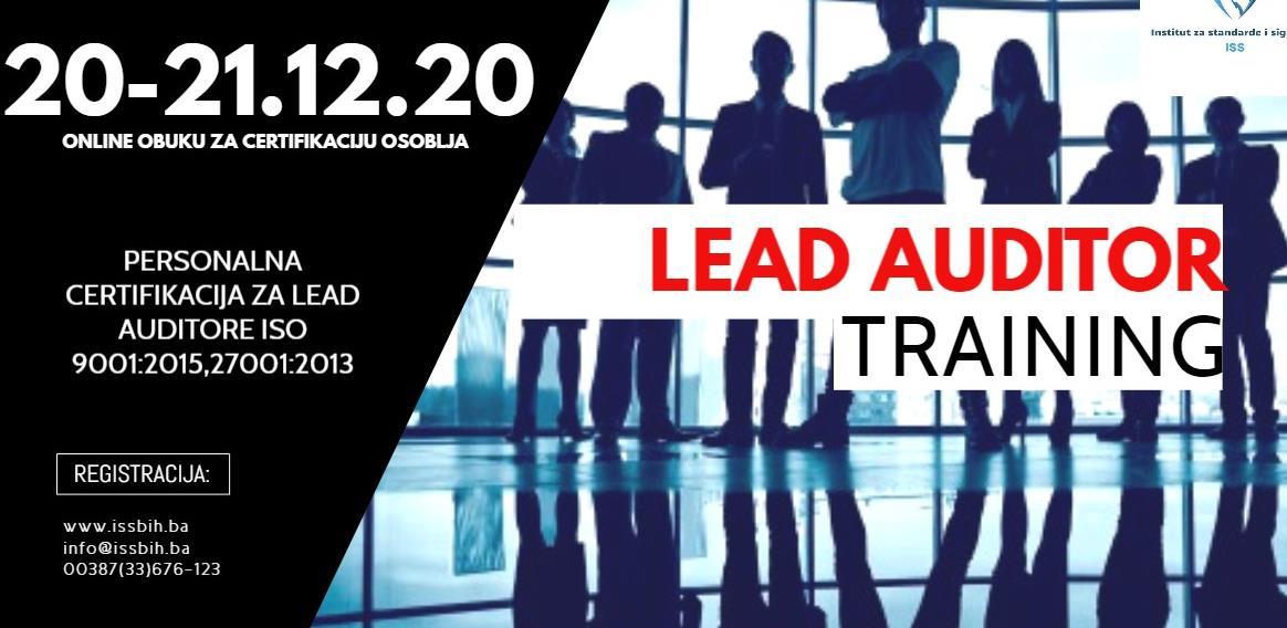 Online obuka sa personalnom certifikacijom za eksterne/lead auditore