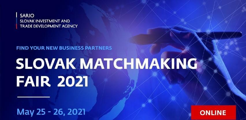 """Sajam poslovne saradnje """"Slovak Matchmaking Fair 2021"""""""