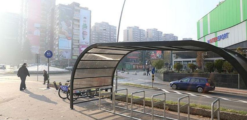 U Zenici postavljeno natkriveno biciklističko stajalište