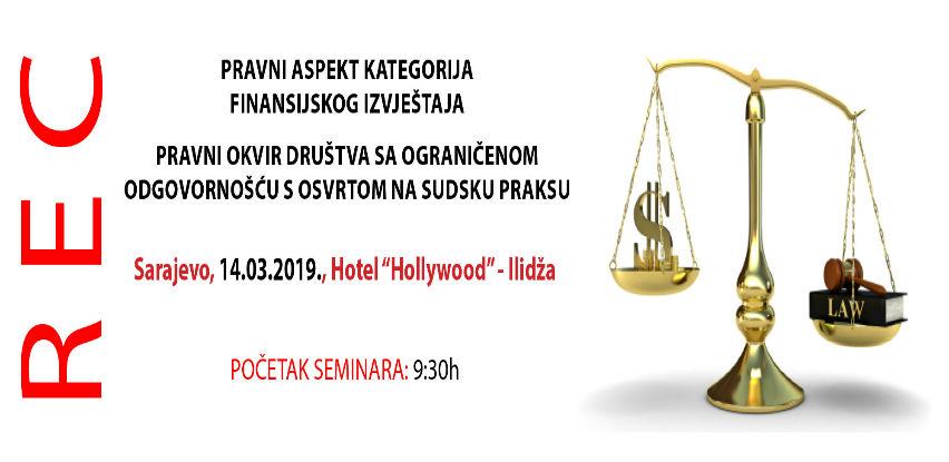 Jednodnevni REC seminar: Pravni aspekt kategorija finansijskog izvještaja