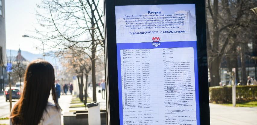 Objavljeni svi računi Gradske uprave Banja Luka