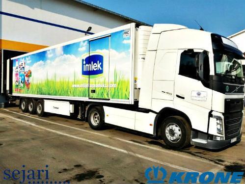 Sejari d.o.o. isporučio novu poluprikolicu kompaniji Mlijekoprodukt