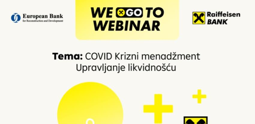 Poziv na webinar COVID Krizni menadžment - Upravljanje likvidnošću