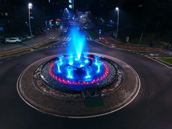 Zenica bogatija je za još jedan dragulj-fontanu u kružnom toku kod RK Bosna