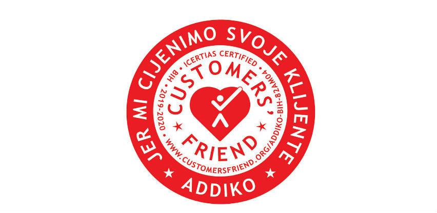 "Addiko Bank dobila međunarodni certifikat ""Customers' Friend"""
