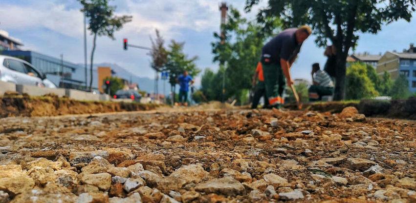 Počela izgradnja biciklističke staze u naselju Dobrinja