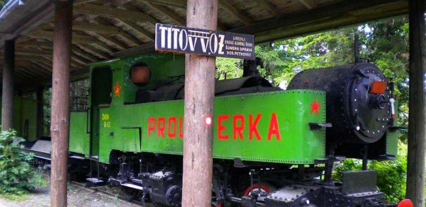 Obnovljena nadstrešnica Titovog voza na Oštrelju