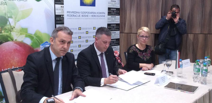 Gospodarska komora FBiH i Mađarska poljoprivredna komora danas su potpisale sporazum o suradnji čiji je cilj pomoć u uspostavljanju suradnje među kompanijama iz ove dvije zemlje.