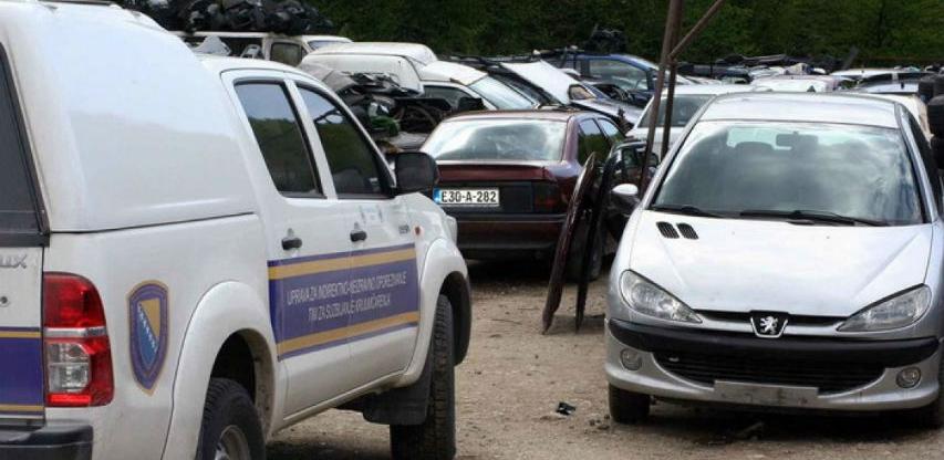 UIO BiH će s oduzetim motornim vozilima postupati u skladu sa važećim propisima