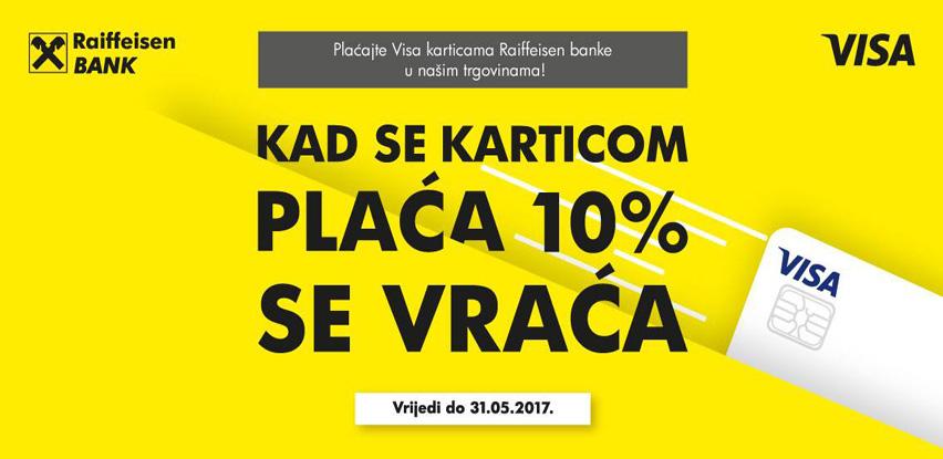 Platite Visa karticom Raiffeisen banke u svim Alma Ras i Manners buticima i ostvarite ukupan popust u iznosu od 10%.