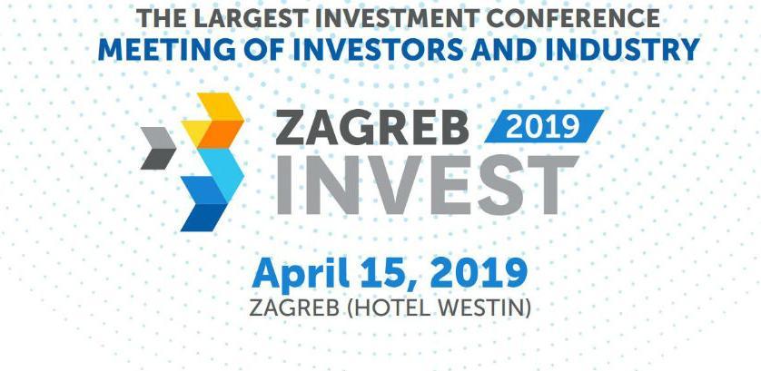 U aprilu najvećainvesticijskaMeđunarodnu konferenciju Zagreb Invest 2019.