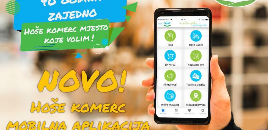 Hoše komerc od sada dostupan i putem mobilne aplikacije