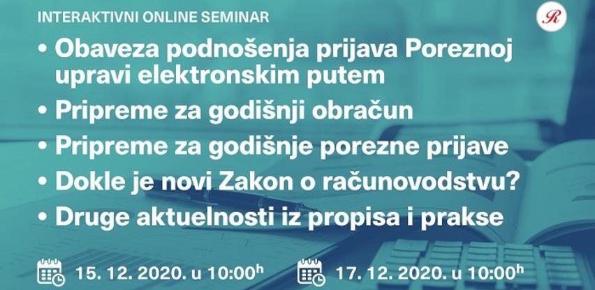 Reviconovi novi interaktivni online seminari u decembru