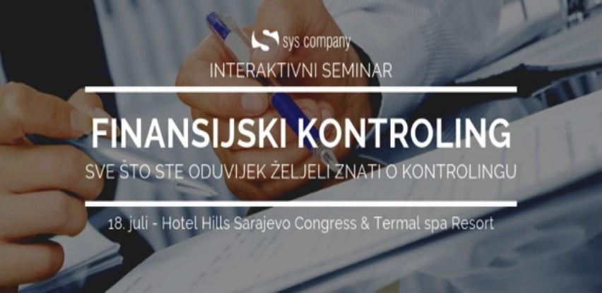 Seminar: Finansijski kontroling, 18. juli Sarajevo