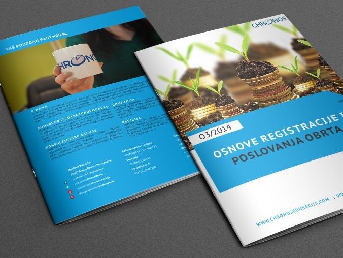 """Besplatna e-knjiga iz Chronosa """"Osnove registracije i poslovanja obrta"""""""
