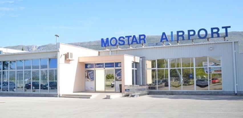 Mostarska zračna luka zabilježila veliki pad prometa