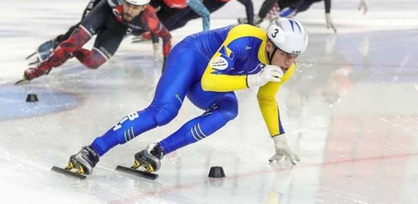 Tarik Omeragić na Svjetskom prvenstvu u brzom klizanju