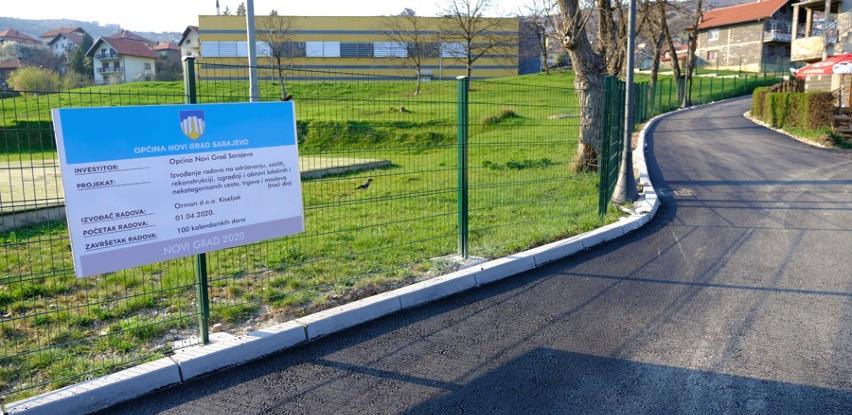 Završene aktivnosti na asfaltiranju novogradske ulice Muzafera Mešića