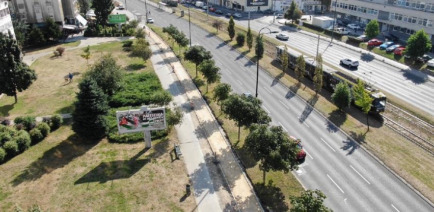 Nastavak radova na sanaciji pješačke staze duž ulice Zmaja od Bosne