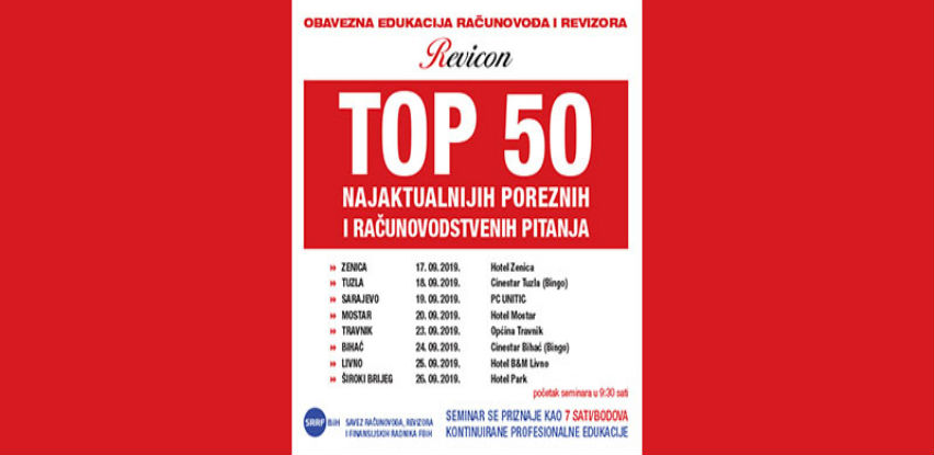 Revicon: TOP 50 ​najaktualnijih poreznih i računovodstvenih pitanja