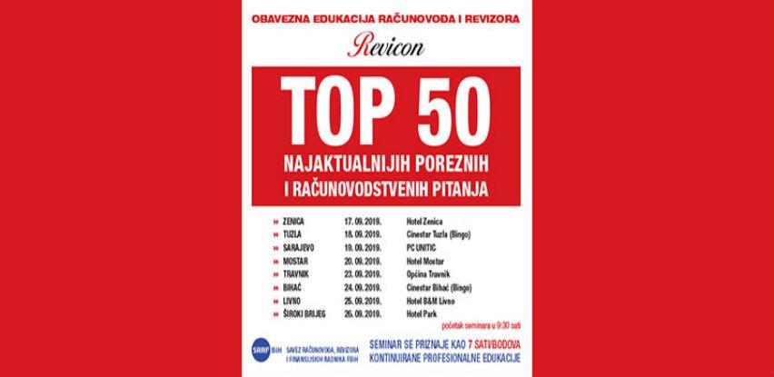 Revicon: TOP 50 najaktualnijih poreznih i računovodstvenih pitanja