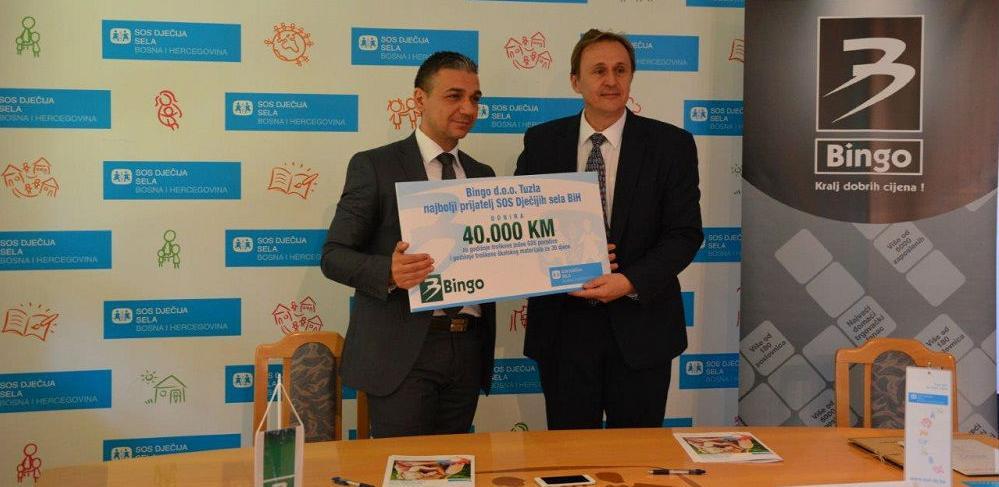 Bingo Tuzla donirao 40.000,00 KM SOS Dječijim selima BiH