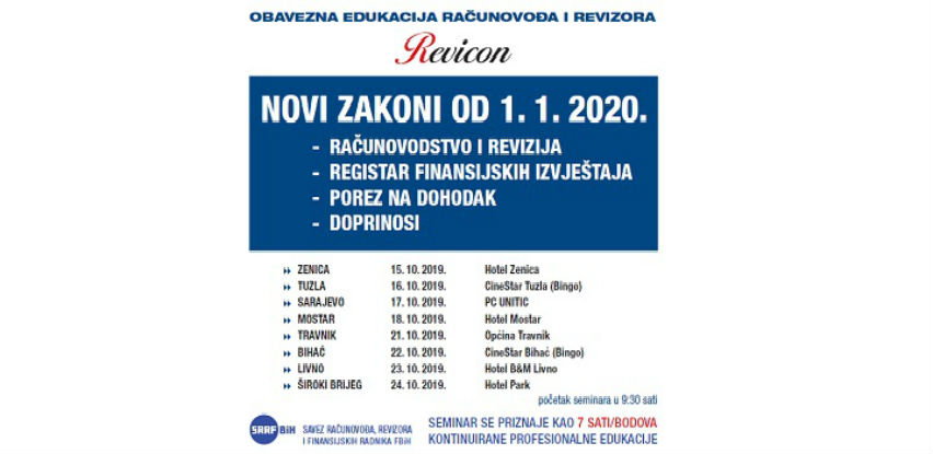 Revicon seminar: Novi zakon o računovodstvu i reviziji