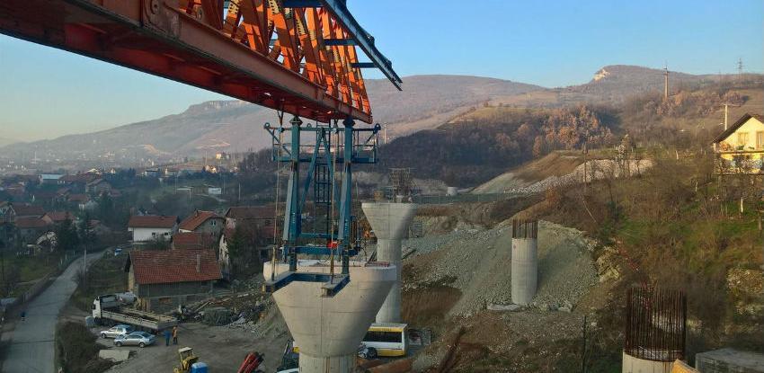 Radovi na Koridoru 5C: Pri kraju vijadukt Ričice dug 180 metara