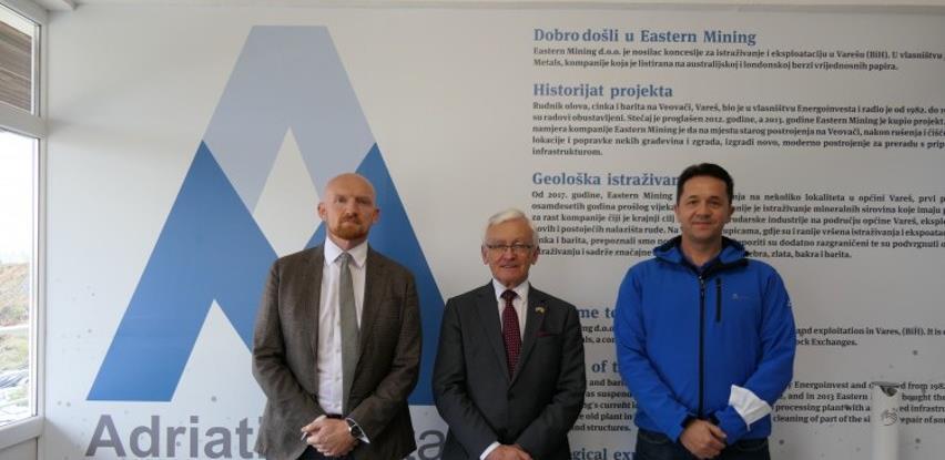 Izaslanik Vickers i ambasador Field posjetili Vareš i kompaniju Eastern Mining