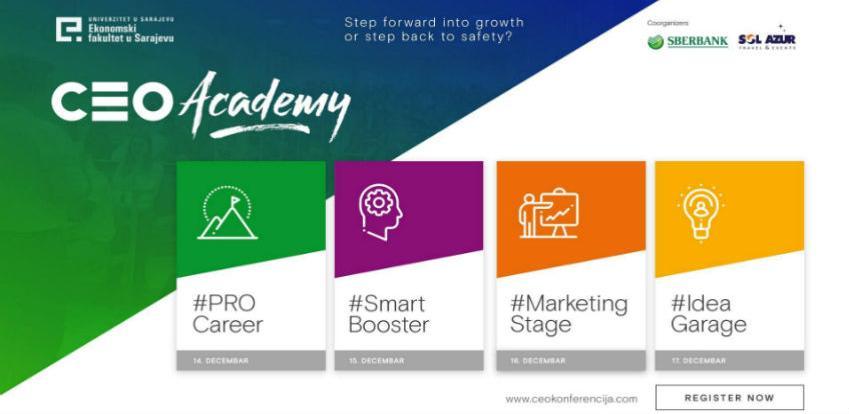 CEO Academy od 14. do 17. decembra na Ekonomskom fakultetu u Sarajevu
