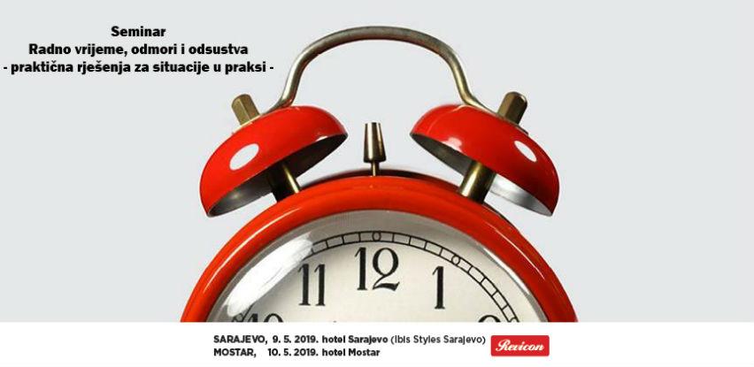 Revicon seminar: Radno vrijeme, odmori i odsustva