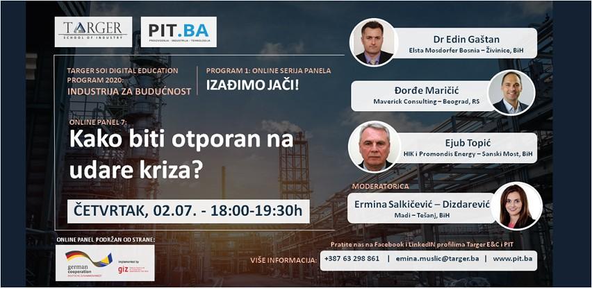 7. Online PIT panel diskusija: Kako biti otporan na udare kriza?
