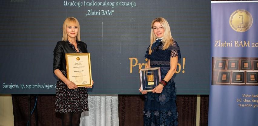 Raiffeisen banka dobitnik dvije nagrade Zlatni BAM