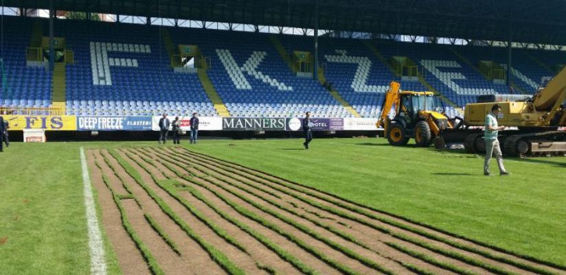 Počeli radovi na uklanjanju travnjaka stadiona 'Grbavica'