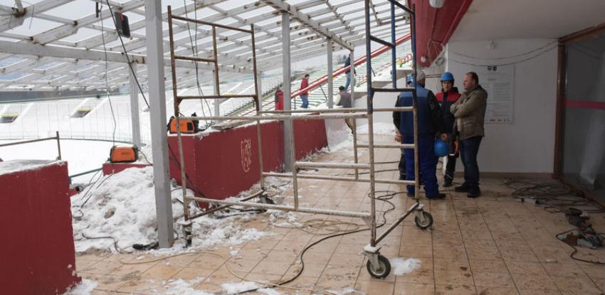 Radovi na uređenju stadiona Koševo odvijaju se planiranom dinamikom