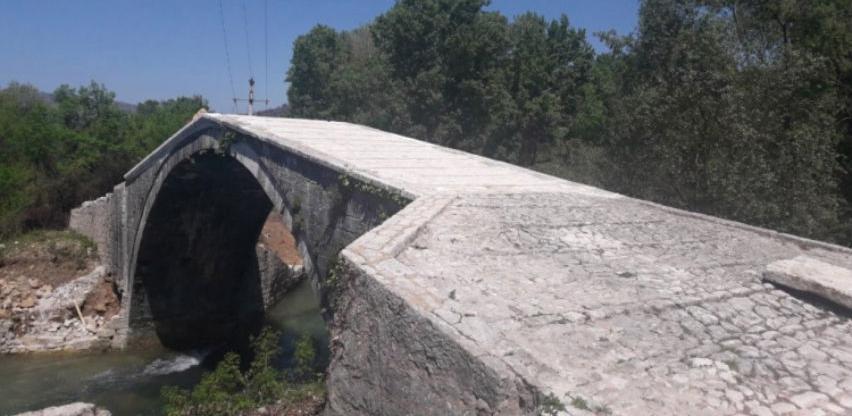 Čapljina: Završeni neophodni radovi restauracije Starog mosta u Klepcima