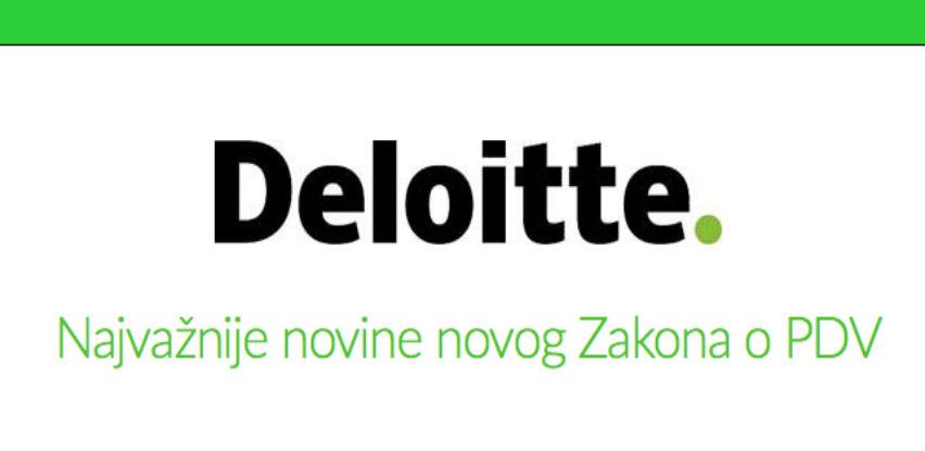 Besplatni Deloitte online trening: Najvažnije novine novog Zakona o PDVu