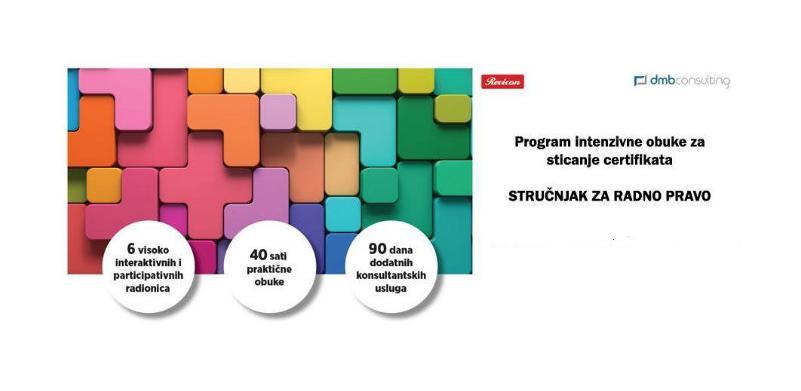 Program intenzivne obuke za sticanje certifikata: Stručnjak za radno pravo