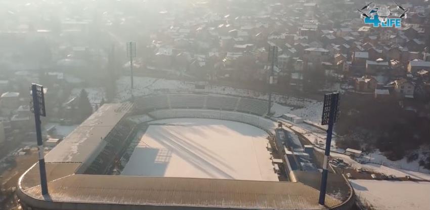 Krov na istoku Grbavice se uspješno postavlja (Video)