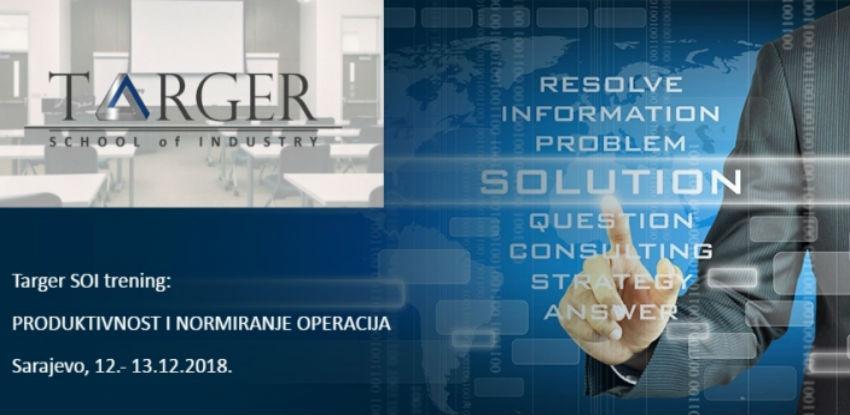 Targer School of Industry trening: PRODUKTIVNOST I NORMIRANJE OPERACIJA