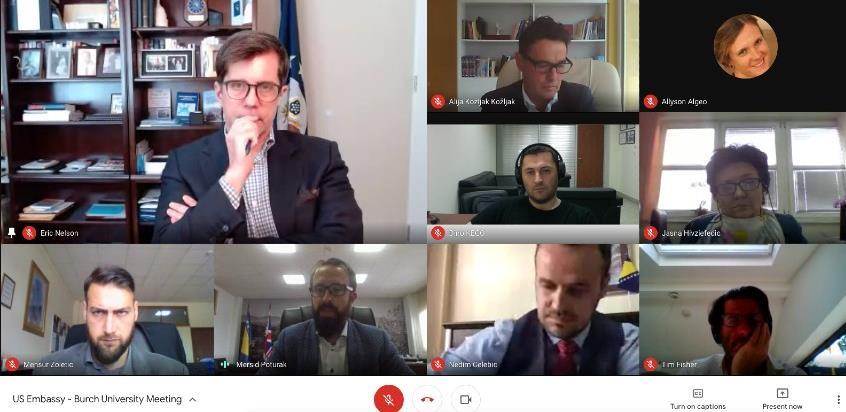 Američki ambasador održao online diskusiju sa studentima Burch univerziteta