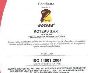 Koteks potvrdio certifikate ISO i OHSAS