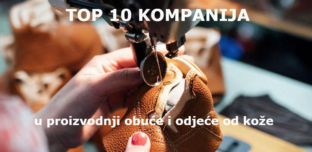 Deset najboljih u proizvodnji obuće i odjeće od kože