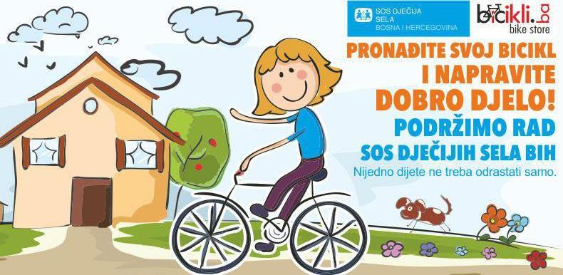 Bicikli.ba podržavaju rad SOS Dječijih sela BiH
