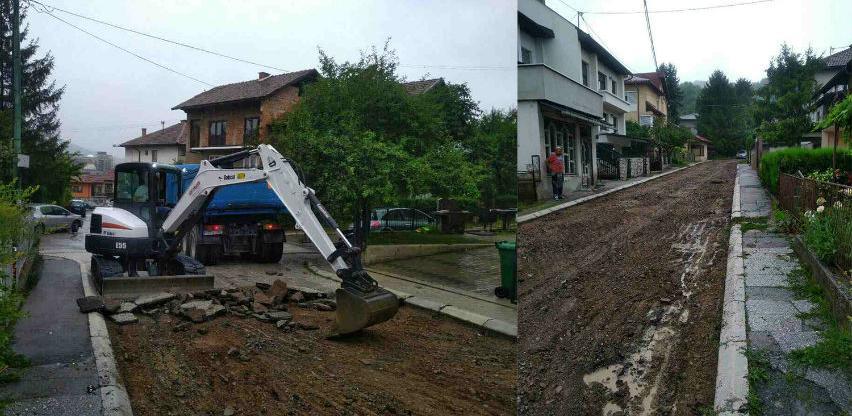 Počeli radovi na rekonstrukciji ulice Carica u Visokom