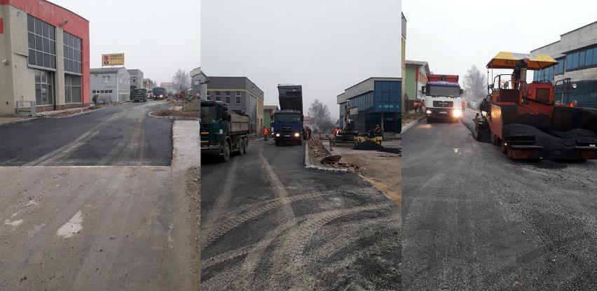 Završena još jedna faza radova na izgradnji saobraćajnice u zoni Ozrakovići