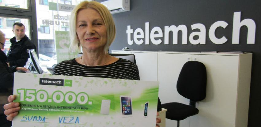 Telemach nagradio 150.000-tog korisnika najbržeg interneta u BiH