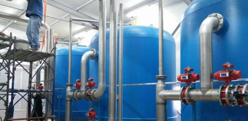 Otvoreno moderno filter postrojenje vode za piće na Karašnici